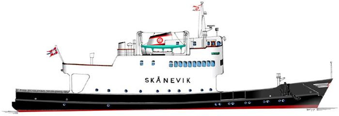 Teikning av Skånevik
